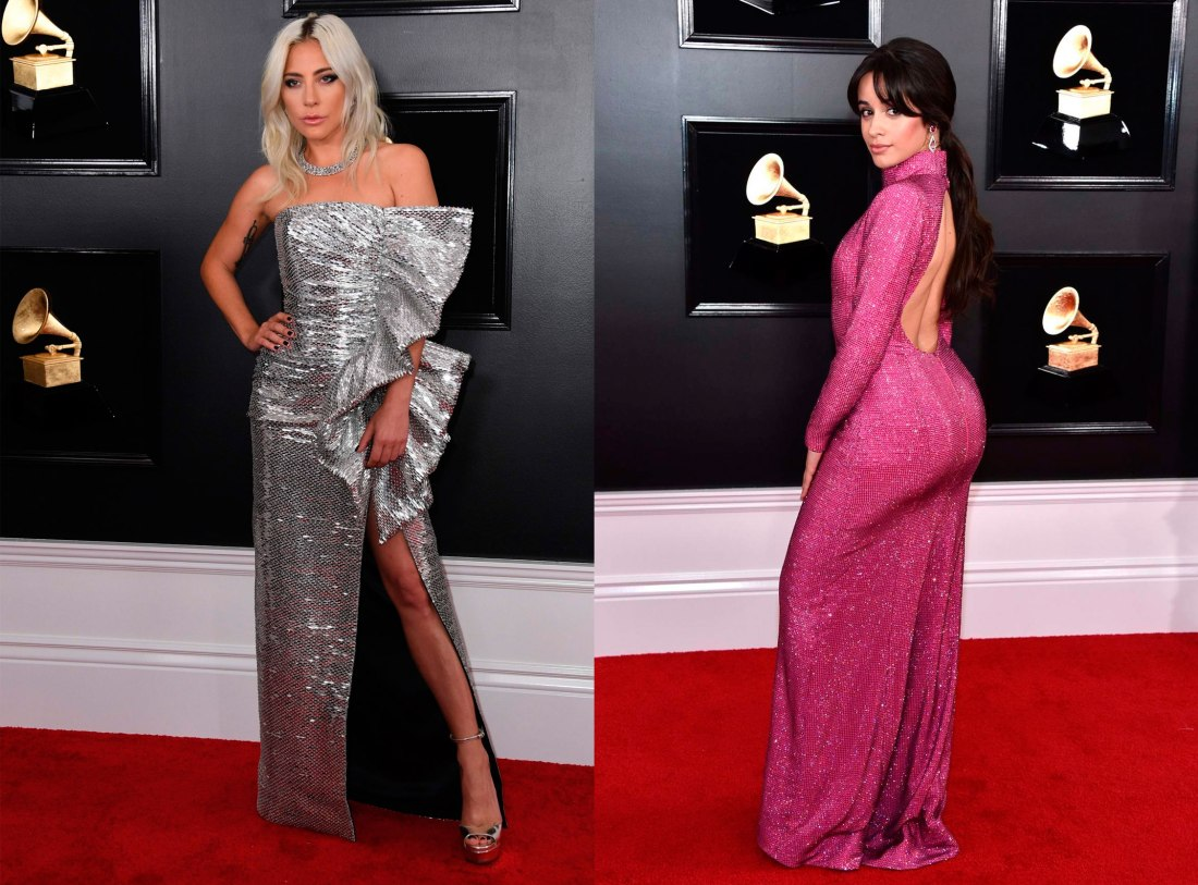 lady gaga, camila cabello, grammys, red carpet